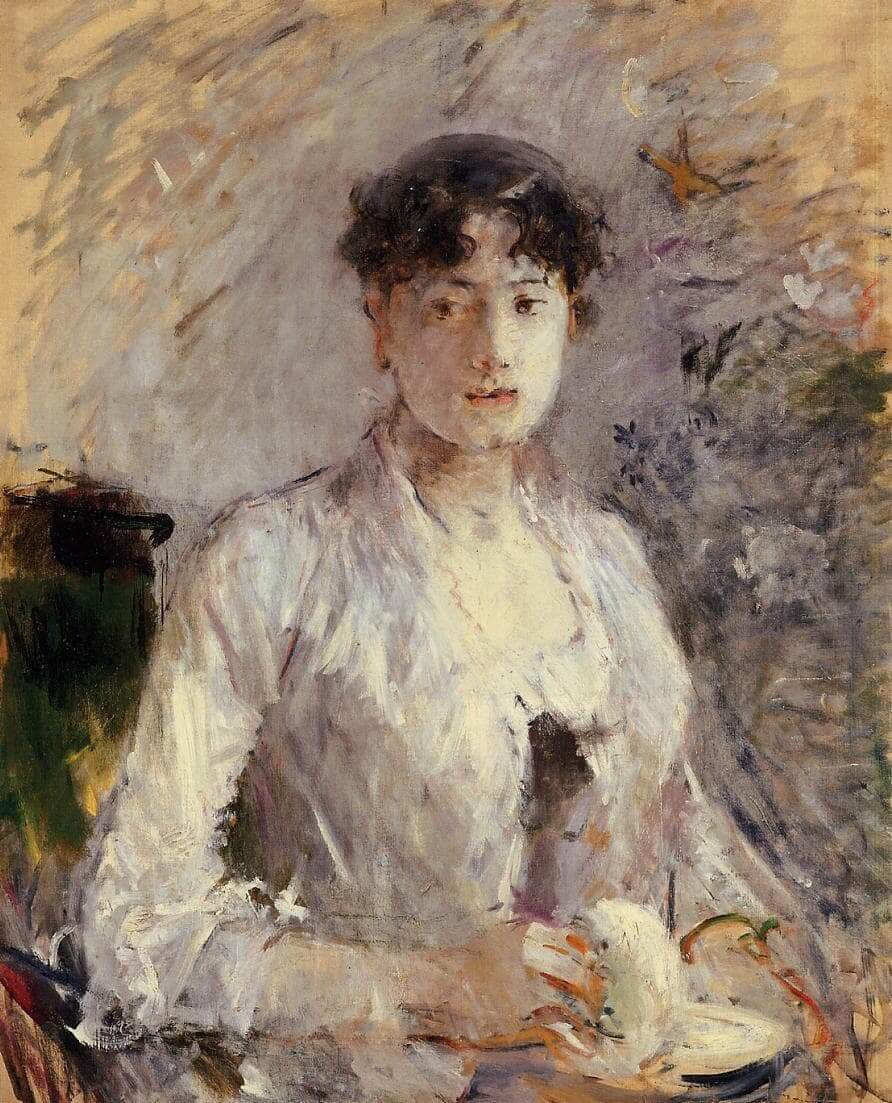 """""""Ung kvinne i Mauve"""" av Berthe Morisot"""